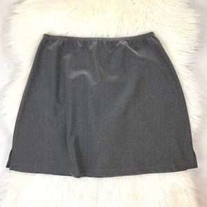 Vintage Gantos Silver Sparkle Stretch Mini Skirt